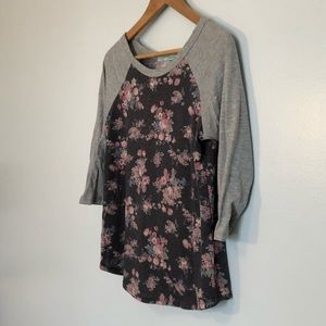 Super Soft Floral Raglan Tee from Maurices